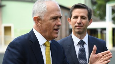 Prime Minister Malcolm Turnbull, left, and Education Minister Simon Birmingham.