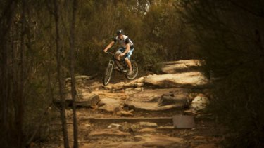 It takes dedication... mountain biker Brad Cox of Lane Cove negotiates a track in the Garigal National Park near Seaforth.