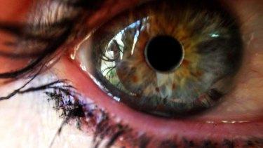 iPhone macro photography. A human eye.
