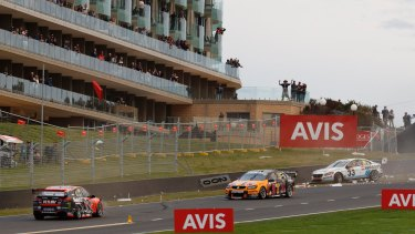 Collision course: Tander and Mclaughlin crash in final stages of the race.