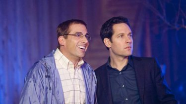 Guess who's coming to dinner ...  Steve Carell, left, as  Barry and Paul Rudd as Tim.