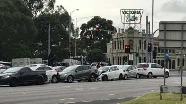 Accident on Nepean Highway, February 9, 2018.