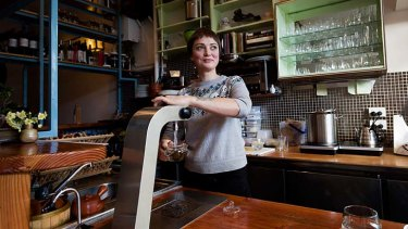 No trouble brewing: Hannah Dupree prepares an infusion at her Collingwood cafe, Storm in a Teacup.