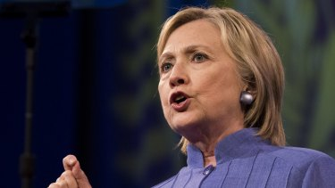 Hillary Clinton, 2016 Democratic presidential nominee, speaks at a campaign event in Cincinnati, Ohio.