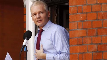 """Ecuador granted Assange asylum on August 16 but Britain refuses to grant him safe passage out of the country""."