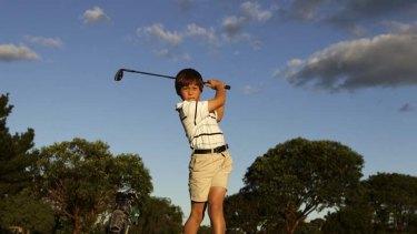 The next Tiger? ... Melbourne golfing prodigy Karl Vilips.