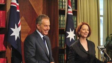 Climate consensus ... Tony Blair and Julia Gillard.
