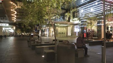 Sydney city centre ... the buzz disappears at night.