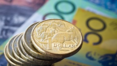 The Australian dollar fell as low as 79.95 US cents, its lowest mark since July 2009.