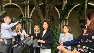 Queensland Premier Annastacia Palaszczuk says she would not form a minority government with One Nation.