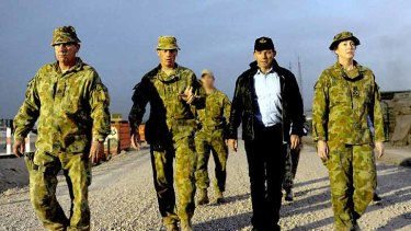 Tony Abbott backed a continuing role in Afghanistan for Australian troops.