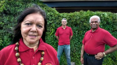 Aunty Zeta Thomson, Leister Ross and Uncle Reg Blow (from left).