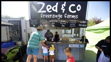 The Zed & Co Freerange Farms stall at Talbot market.