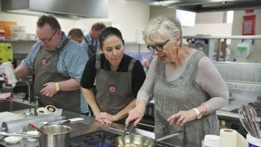 Chef Maggie Beer teaches chefs working in aged care.