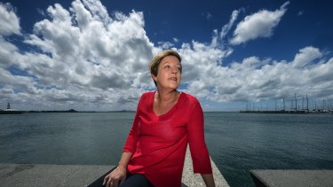 Victorian Environment Minister Lisa Neville in Geelong. Part of her agenda is cleaning up contaminated sites.