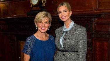 When Julie met Ivanka: Foreign Minister Julie Bishop and White House senior advisor Ivanka Trump.