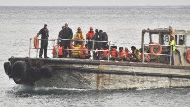 Rescued asylum seekers.