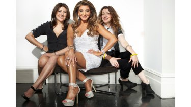 Close-knit: Bettina, Gina and Teresa Liano have a strong bond and close ties to fashion that is almost a family tradition.