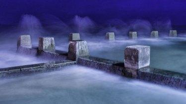 In the mist: The Ross Jones Memorial pool.