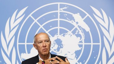 World Intellectual Property Organisation head Francis Gurry at the UN in Geneva.