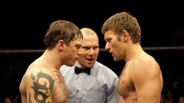 Tom Hardy (left) and Joel Edgerton weighed in for <i>Warrior</i> from vastly different backgrounds.