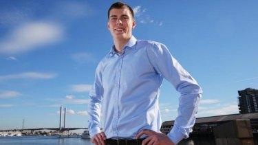 Tall order: Mason Cox has attracted plenty of AFL interest.