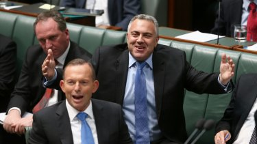 Treasurer Joe Hockey during question time on Wednesday.