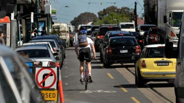 In the road: cars dominate, but often it's cyclists who are blamed for congestion.