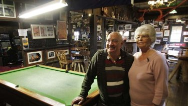 Struggling ... current owners Bill and Jenny Sharkey are operating at a loss but are reluctant to close.