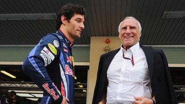 Mark of respect ... With  Mark Webber.