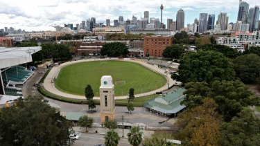 Hot property: The Wentworth Park greyhound track.