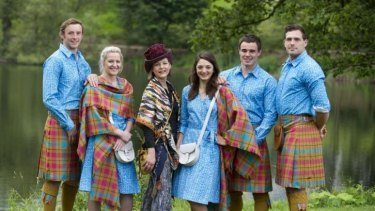 Members of the Scottish Commonwealth Games team in their controversial uniforms.