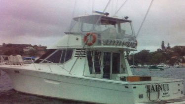 Tainui ... the boat owned by Nicholas Tsoukaris.