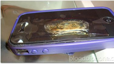 The iPhone which allegedly caught fire in Brazil.