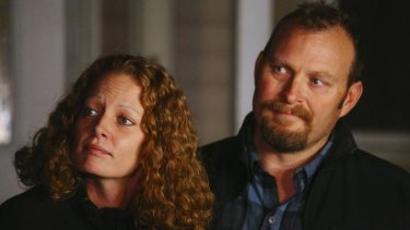 "Kaci Hickox with her partner Ted Wilbur. She said ""I'm not willing to stand here and let my civil rights be violated when it's not science-based""."