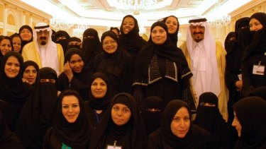 Royal visit ... King Abdullah, left, and the Crown Prince in Najran.