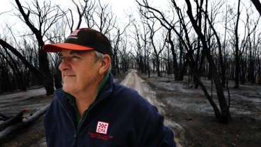 Arthurs Creek CFA captain David McGahy, in Strathewen a month after the Black Saturday bushfires, said his pleas for help were ignored.