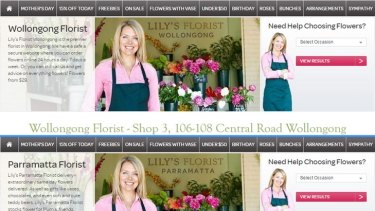 Spot the difference: Lily's Florist in Wollongong and Lily's Florist Parramatta.