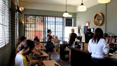 The winner of the 2014 Good Food Guide Best Coffee, Coffee Alchemy on Addison Road, Marrickville.