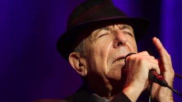 Rapturous reception... Leonard Cohen performs.