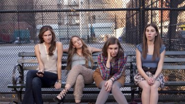<i>Girls</i> is a dramedy that explores the day-to-day lives of four young women living in New York.