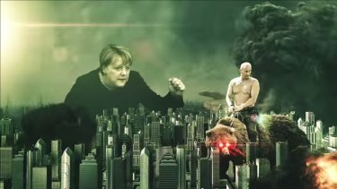An image from a Russian propaganda video which has been viewed millions of times.