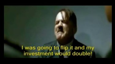 Popular Hitler 'Downfall' parody with fake subtitles.