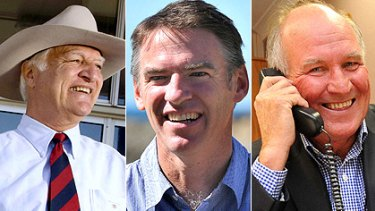 The independents who hold the key to government for Gillard and Abbott: Bob Katter, Rob Oakeshott and Tony Windsor.