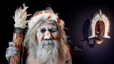 The artist Gali Yalkayirriwuy Gurruwirri at the launch of the NGA's indigenous wing.