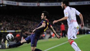 Cesc Fabregas at Barcelona.