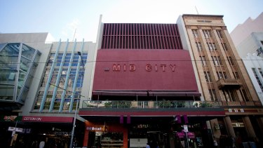 """Hoyts Mid City's 'brutalist cinema"""" also has heritage protection. Photo: Arsineh Houspian."""