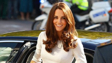 Sheer beauty ... flesh toned stockings are back thanks to Kate Middleton.