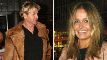 Former AFL footballer Dermott Brereton and Lara Bingle.
