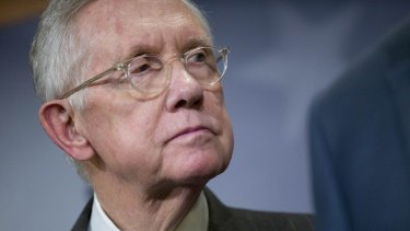Deeply shaken: Senate Minority Leader Harry Reid
